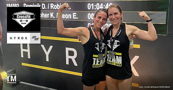 CrossFit Saar Athletinnen und HYROX Vize-Weltmeisterinnen im Double (30-39): Nadine Hess und Caroline Kaspar