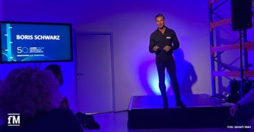 Fitnessexperte Boris Schwarz auf der milon Hausmesse 2020 bei seinem Vortrag '50 ist das neue 30'
