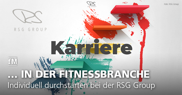 Jobs mit Zukunft: Individuell in der Wachstumsbranche Fitness und Gesundheit durchstarten und bei der RSG Group (Rainer Schaller Global Group) die Karriereleiter erklimmen.