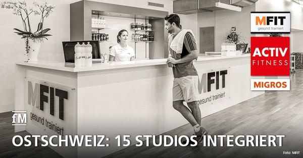 Ab 2020 tragen die 15 MFIT-Studios in der Ostschweiz einen neuen Namen: ACTIV FITNESS.