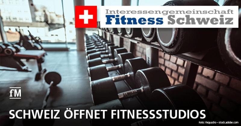 Die Schweiz öffnet ihre Fitnessstudios nach dem Corona-Lockdown.