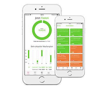 Die Abnehm-App BodyFast bietet Standardpläne wie die 16:8-Methode und kostenpflichtige Spezialpläne.