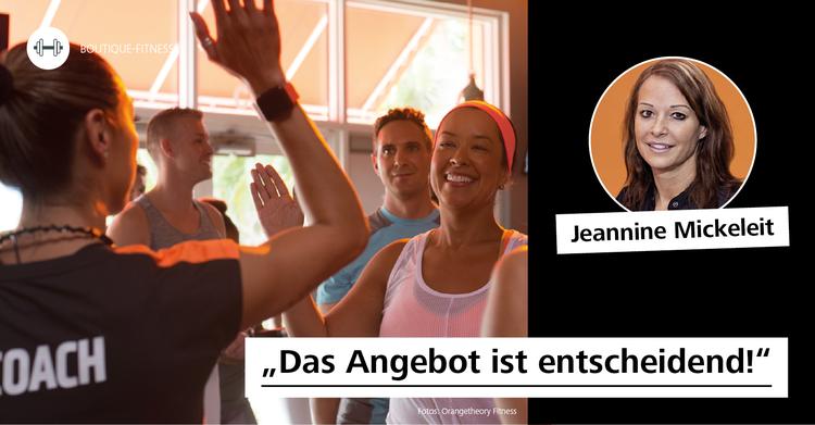 Experten-Interviews über das Phänomen Boutique Fitness: Jeannine Mickeleit (Geschäftsführerin der Orangetheory Fitness North Germany GmbH in Lübeck) über die aktuellste Erfolgsgeschichte des amerikanischen Fitnessmarkts.