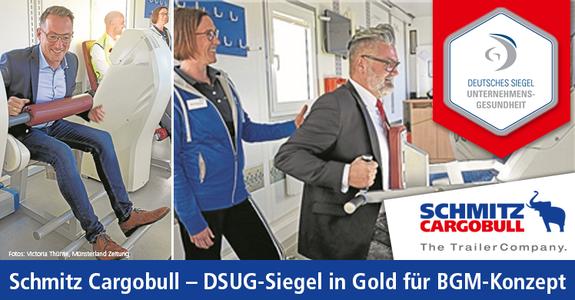 Schmitz Cargobull wurde für sein vorbildliches BGM-Konzept von der BKK ausgezeichnet.