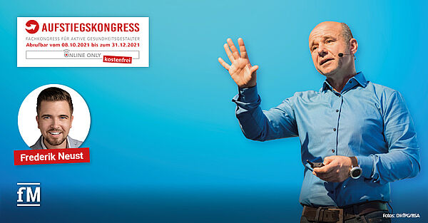 Vortrag 'Social-Media-Video' von Frederik Neust beim Aufstiegskongress 2021.