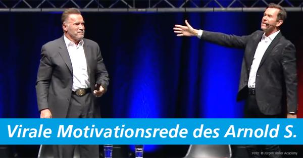 Terminator Arnold 'Arnie' Schwarzenegger hält Motivations-Speech auf den Power-Days in München.