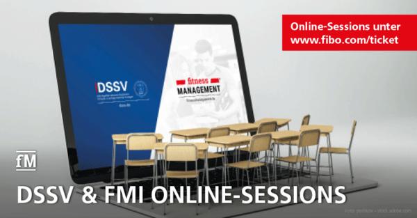 DSSV und fMi Online-Sessions auf der FIBO 2020