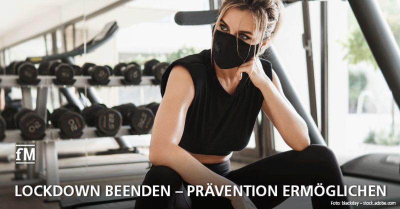'NEIN' zu Sportverbot und Lockdown, 'JA' zum Restart: Gesundheit braucht Fitnesstraining