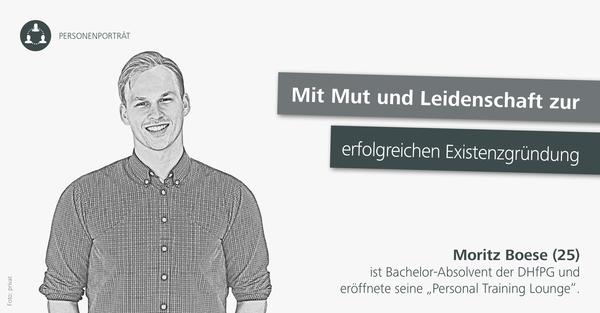 Im Portrait: DHfPG-Absolvent und Studioinhaber Moritz Boese