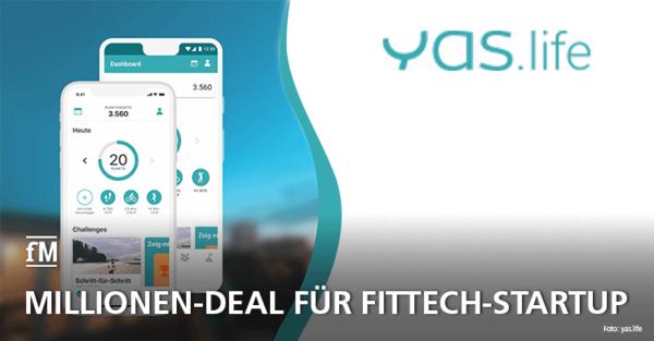 Fittech-Unternehmen YAS.life zieht Millionen-Deal an Land