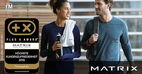 Marke mit der höchsten Kundenzufriedenheit des Jahres 2019 – MATRIX erhält Plus X Award
