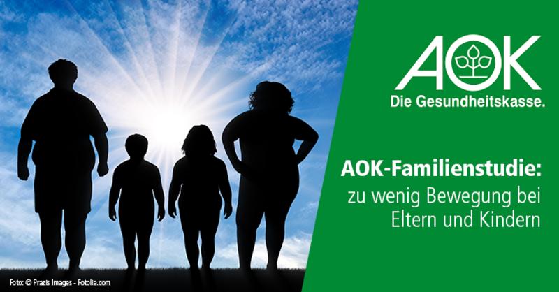 AOK-Studie: In Deutschlands Familien herrscht Bewegungsmangel.