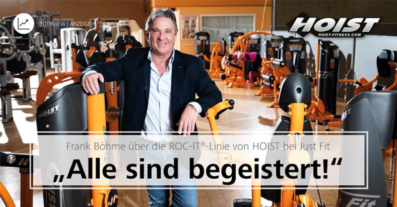 Frank Böhme im Interview mit fMi über die ROC-IT®-Linie von HOIST bei Just Fit