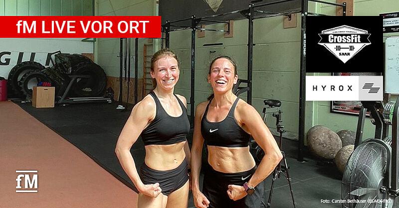HYROX WM in Leipzig: Die beiden CrossFit Saar Athletinnen Nadine Hess und Caroline Kaspar sind dabei.