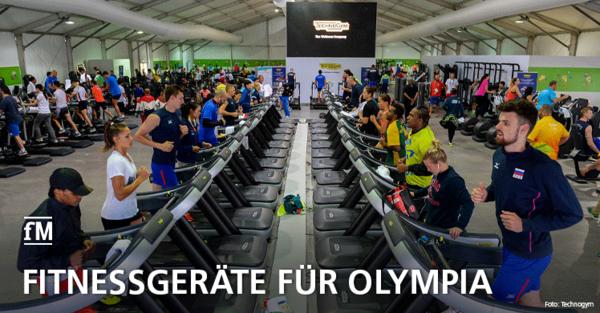 Fitnessgeräte für Olympia: Technogym offizieller Ausrüster von Tokio 2020.