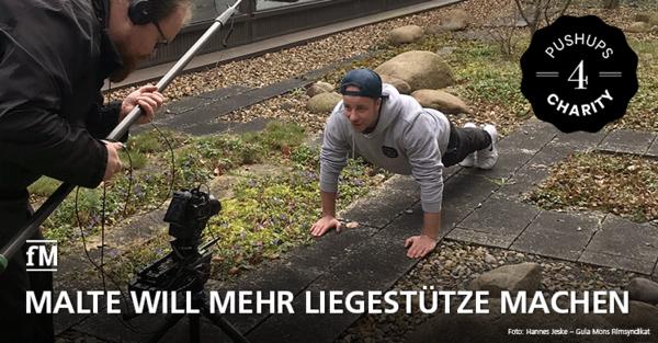 Pushups 4 Charity: Malte Schmidt will 1 Million Liegestütze machen