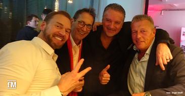 cardioscan wird 18: Unter den Gratulanten befand sich auch DSSV-Geschäftsführer Refit Kamberovic (2. von links).