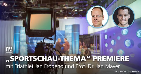 Triathlon-Olympiasieger und Hawaii-Gewinner von 2015 und 2016 Jan Frodeno und Sportpsychologe Prof. Jan Mayer zu Gast im neuen ARD-Format.