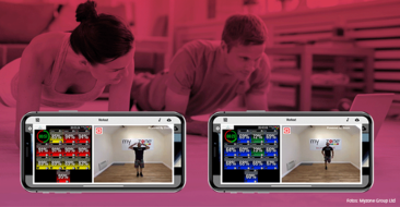 Live-Workouts mit Echtzeit-Herzfrequenz aller Teilnehmer auf dem Bildschirm mit MZ-Remote