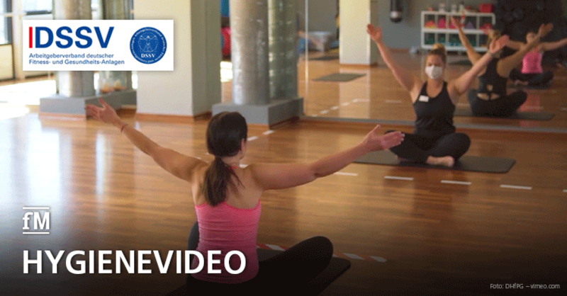 Hygienevideo DSSV Wiedereröffnung Fitnessstudios