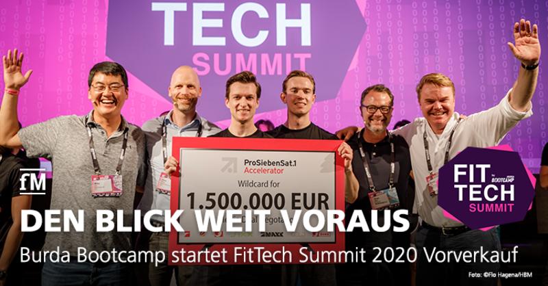 Der FitTech Summit by Burda Bootcamp ist Europas erste Konferenz für Fitnesstechnologien, Digitale Gesundheit und aktiven Lifestyle – Vorverkauf für 2020 gestartet.