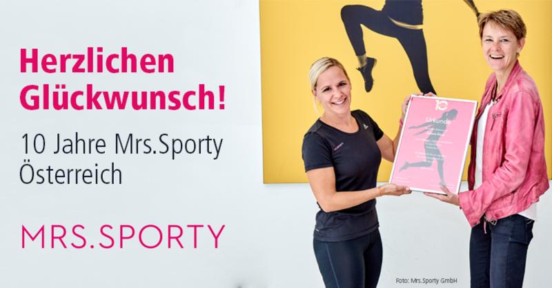 10 Jahre Mrs.Sporty in Österreich