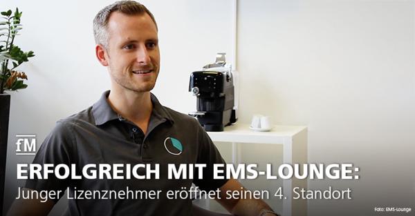 Junger Lizenznehmer Levin Albrecht eröffnet bereits seinen 4. EMS-Lounge® Standort.