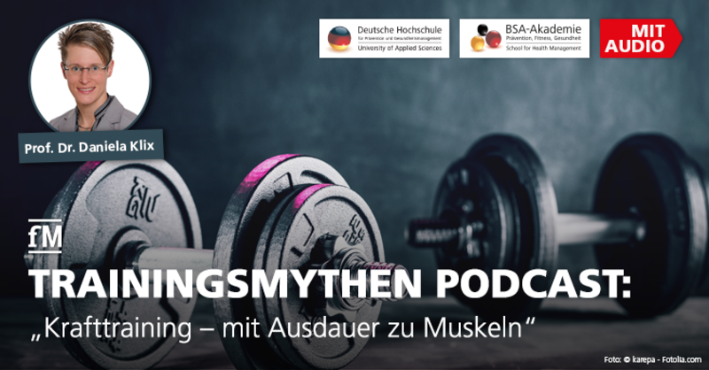 DHfPG Sportwissenschaftlerin Prof. Dr. Daniela Klix und weitere Fitnessexperten räumen im BR-Podcast mit Trainingsmythen auf.
