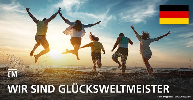 Glückliches Deutschland: in keinem Land ist das Glücksempfinden 2018 mehr gestiegen, als bei uns. Wir liefern Studienergebnisse und eine fitte Glücksformel frei Haus.