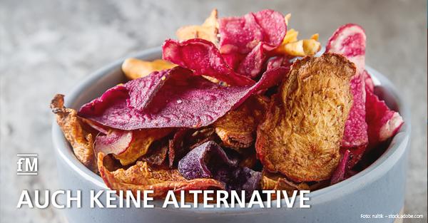 Gemüsechips als vermeintlich gesunde Alternative