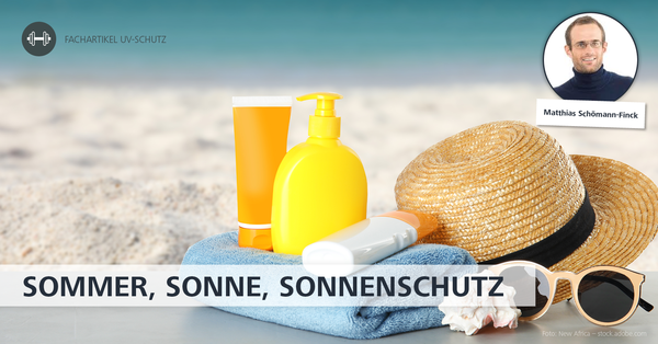 Im Fachartikel 'Hautschutz' und 'UV-Schutz' beleuchtet Autor Matthias Schömann-Finck wie Sonnenbaden ohne gesundheitliche Nebenwirkungen klappt.