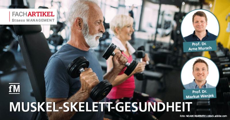 Nutzen von Fitnesstraining für die Muskel-Skelett-Gesundheit.