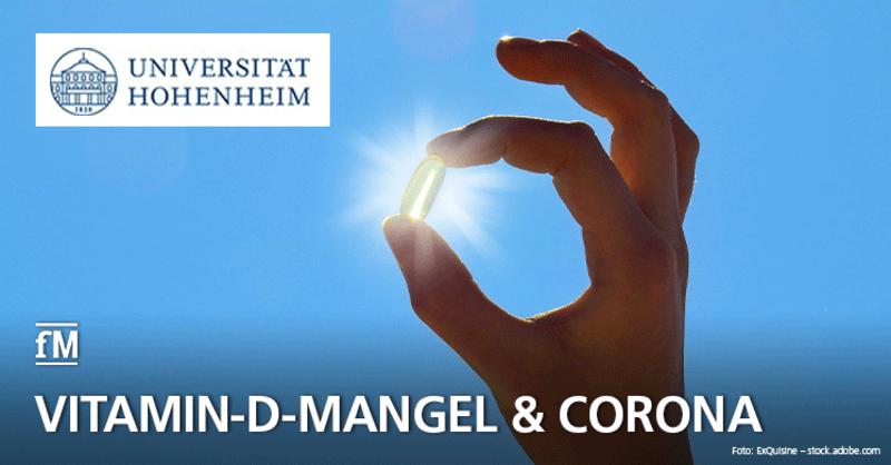 Uni Hohenheim zeigt in einer Studie, dass Vitamin-D-Mangel eine beachtliche Rolle beim Corona-Krankheitsverlauf von Risikopatienten spielt