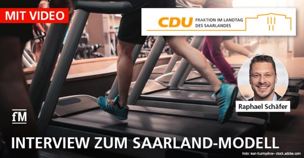 Video-Interview zum 'Saarland-Modell' mit Raphael Schäfer, Sprecher der CDU-Landtagsfraktion Saarland.
