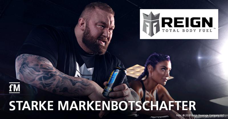 Starke Markenbotschafter: Natalie Eva Marie und Hafþór Júlíus 'Thor' Björnsson werben für REIGN