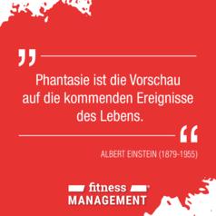 'Phantasie ist die Vorschau auf die kommenden Ereignisse des Lebens.' – Zitat Albert Einstein