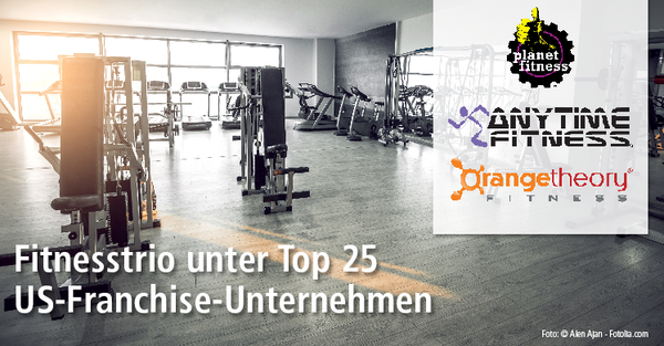 Franchise-Überblick USA – Fitnesstrio unter den Top 25