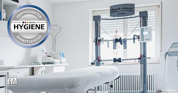 Inhaber Stefan Lang hat sowohl seine Naturheipraxis als auch sein Fitnessstudio nach der Hygienenorm der BSA-Zert zertifizieren lassen.