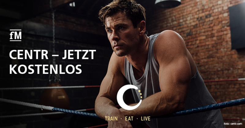 Trainieren mit Thor: Schauspieler und Fitnessunternehmer Chris Hemsworth bietet seine App kostenlos an