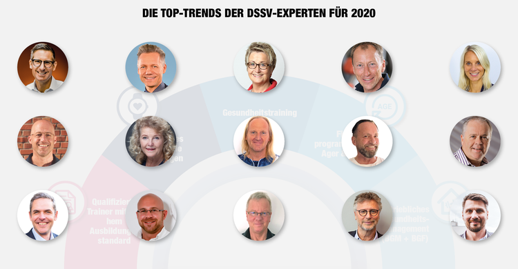 Die Fitnesstrends der DSSV-Experten für 2020