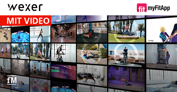 Wexer-Videos in myFitApp