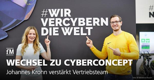 Johannes Krohn verstärkt CyberConcept-Vertriebsteam.