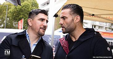 Der ehemalige Boxweltmeister Marco Huck (links) und der amtierende Schwergewichtsweltmeister Manuel Charr.