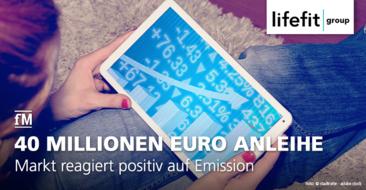 LifeFit Group emittiert 4-Jahres-Anleihe in Höhe von 40 Millionen Euro.