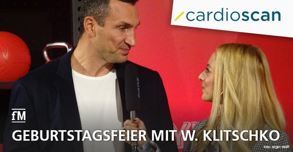 Der Hamburger Medizintechnikhersteller cardioscan feiert seinen 18. Geburtstag mit dem ehemaligen Boxweltmeister Wladimir Klitschko.