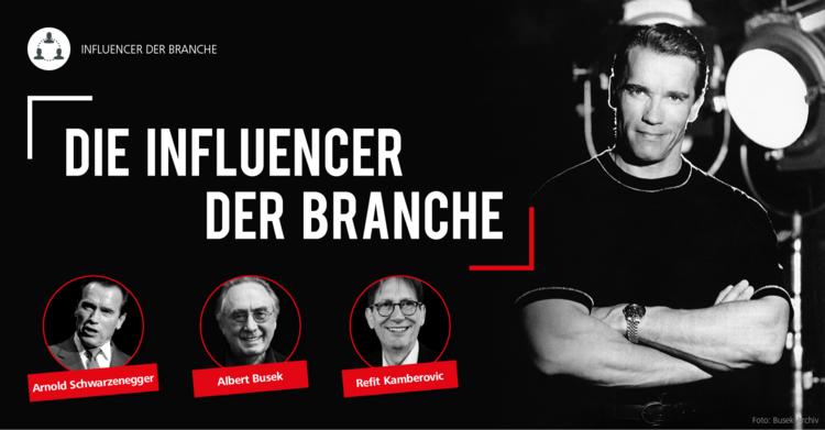 Kann die Fitness- und Gesundheitsbranche vom Phänomen 'Influencer' profitieren? fitness MANAGEMENT sprach mit Arnold Schwarzenegger, Albert Busek und Refit Kamberovic, drei herausragende Persönlichkeiten der Branche.