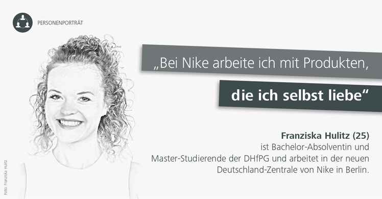 DHfPG-Studentin Franziska Hulitz macht Karriere beim Sportartikelhersteller Nike.
