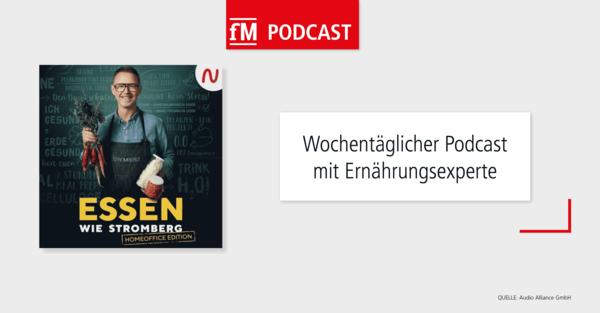 Podcast-Tipp 'Essen wie Stromberg – Die Homeoffice Edition' – verfügbar bei Audio Now