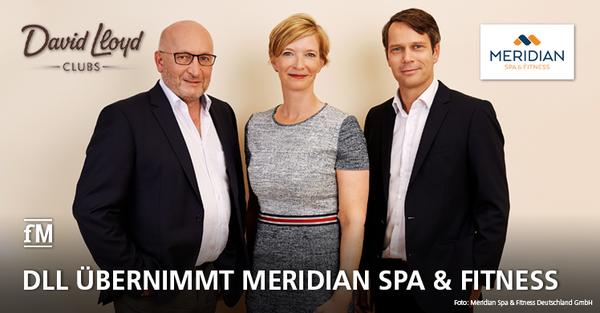 David Lloyd Leisure übernimmt Hamburger Meridian Spa & Fitness Gruppe. Die aktuelle Geschäftsleitung mit (von links) Leo Eckstein, Christin Lüdemann und André Nagel