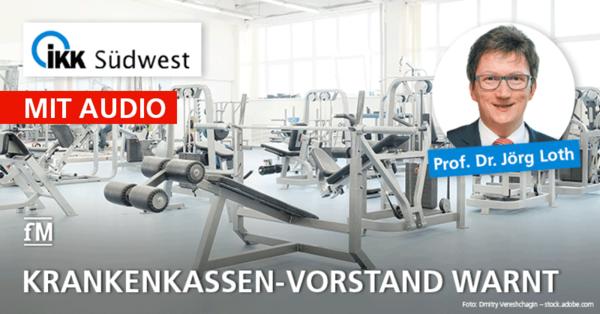 Fitnesstraining ist wichtig: Krankenkassen-Vorstand Jörg Loth warnt vor Folgen des Corona-Lockdowns für die Gesundheit